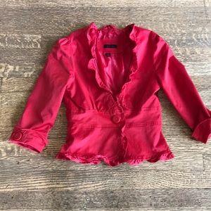 Red Hot Last Kiss Structured Blazer